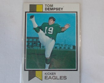 1973 Topps Tom Dempsey Football Card 59