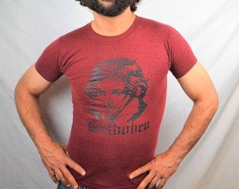 Vintage 1980s Beethoven Tshirt Tee Shirt - Seattle Chamber Music Festival