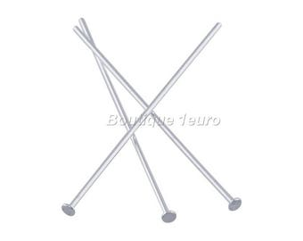 Silver - 26mm - 100 flat head nails silver 26mm