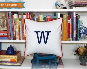 Letter Pillow Cover - Initial It - 18 x 18 square