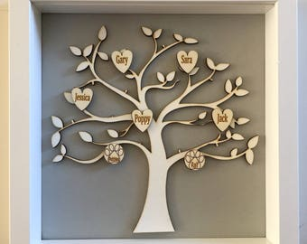 Custom Made and Personalised Family Tree Of Life Up to 10 Names, Family Gifts, Special Birthday Gifts, Sentimental Gifts