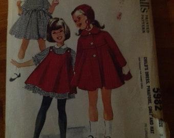 Vintage 1961 McCalls 5982 children's size 5 pattern