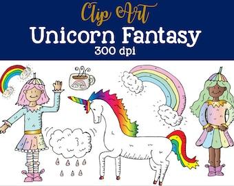 Unicorn Fantasy Clip Art