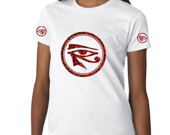 African Clothing for Women Eye of Ra Shirt  Kemetic Shirt  Eye of Heru Shirt  Eye of Horus Tshirt Protection Eye  African Shirt 