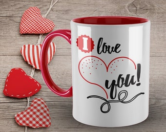 I Love you Mug, Valentines Gift for Her, Coffee Mug, Funny Love Quote Mug, Mug for Her, Mug for Him, Happy Valentines Day, Coffee Mug