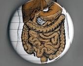 Hate Your Guts Key Chain \/ Bottle Opener  -- Vintage Ephemera -- OOAK