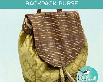 Savannah Backpack Purse ~ PDF Pattern