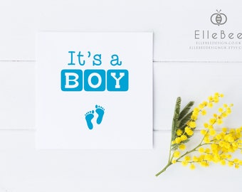 New Baby Card / New Baby Boy Card / New Baby Girl Card / Baby Celebration Card / Baby Announcement Card / Elle Bee
