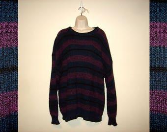 Vintage 1990s Purple & Blue Stripe Sweater