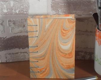 Note book A7 Mulberry orange grey / / notes / / gift / / secret Santa / / blank
