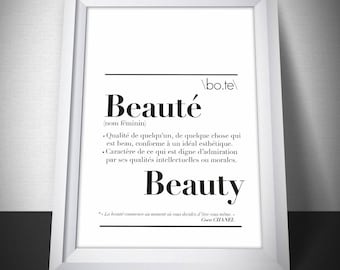 "Poster ""Beauty"" definition"