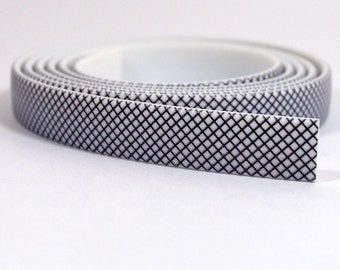 10mm Flat Vinyl - Crosshatch Pattern - FNT10-6 - Choose Your Length