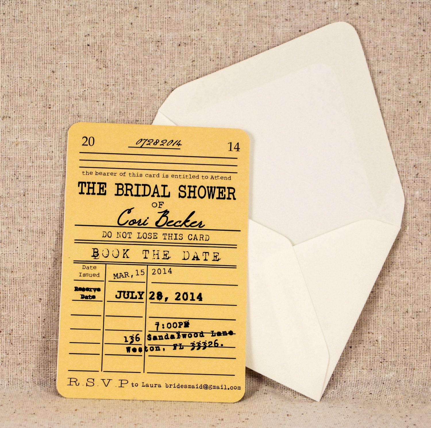 Card bridal shower invitation vintage literary theme zoom filmwisefo Image collections