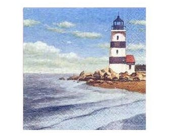 Lighthouse decor napkin