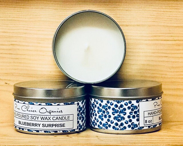 Blueberry Surprise Soy Wax Candles Holiday Gift