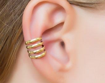 Gold Ear Cuff. gold ear wrap. earcuff. minimalist ear cuff. simple ear cuff. bohemian earrings. cartilage cuff. ear cuffs earring. earcuff