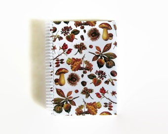 Nuts and Mushrooms Notebook A5 Spiral Bound