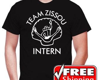 The Life Aquatic with Steve Zissou Inspired Novelty Movie T-shirt Team Zissou Intern Tee Shirt