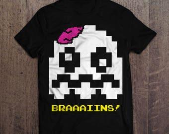 "Zombie Pac-Ghost T-Shirt - ""Bones"""