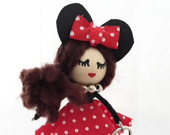 Original Doll brooch with Minnie costume