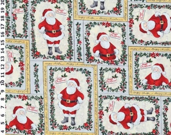 Jolly Saint Nick Christmas Cotton Fabric by the yard and by the half yard