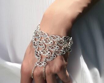 Boho Bangle Bohemian Bangle Silvered Bangle Bohem Jewellery
