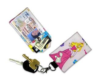 Disney Princess Aurora ID Wallet, Mini Wallet, Lanyard ID Holder, Luggage Tag, Vacation ID Wallet