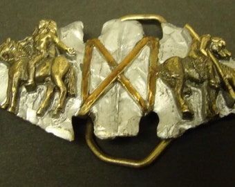 Vintage Double Arrowhead Native American Belt Buckle