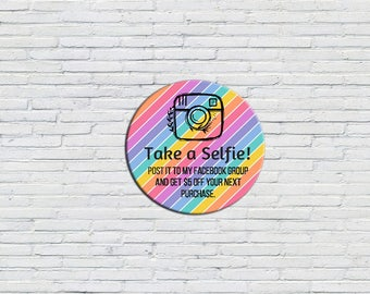 Take a Selfie Sticker | Marketing Tool, Direct Sales Marketing, LLR Selfie Sticker, Lula Selfie Sticker, Digital File, Printable, Rainbow