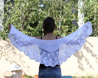 Shawl Pattern Knit Shawl Pattern Knitted Wrap Knit scarf pattern Handmade Shawl Stole Pattern Lace Women's Scarf knit wrap pattern