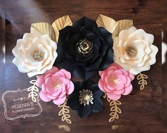 6 Paper flowers