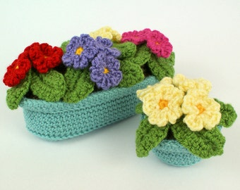 PDF Primroses potted plant CROCHET PATTERN
