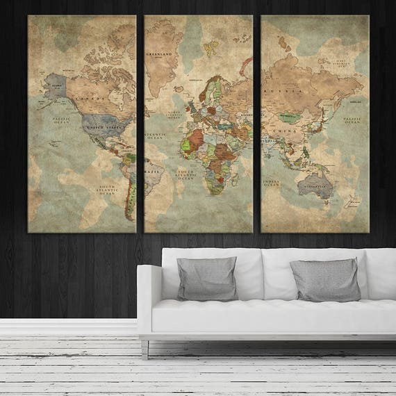 Antique world map large wall art push pin travel map of te gusta este artculo gumiabroncs Image collections