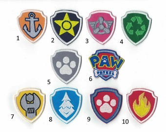 Paw Patrol Embroidered Iron On Patch Iron on Applique