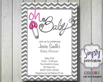 Oh Baby Shower Invite