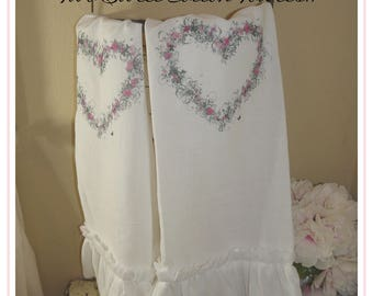 Flower Sack Cotton Towels~Romantic Shabby~Cottage