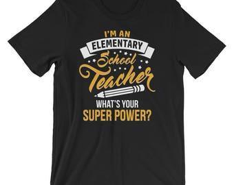 elementary teacher - teacher gift - teacher appreciation - gift for teacher - teacher - teacher thank you - elementary - teacher shirt