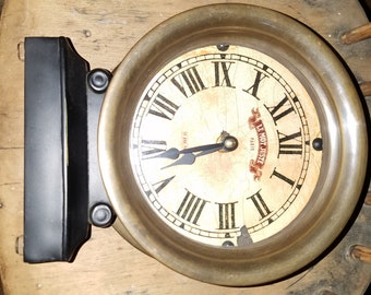 Earnest Hemingway Collection (pre-owned/excellent condition) Ship Captain's Solid Brass Clock