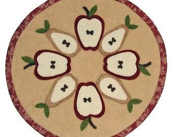 PDF Pattern - Fruitful Harvest 16 inch WoolFelt Table Mat