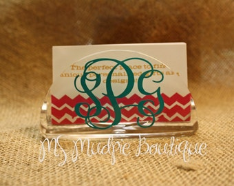 Business card holder coworker gift office accessory personalized business card holder monogrammed business card holder business card holder coworker gift boss gift acrylic card holder colourmoves