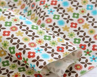 Scandinavian Nordic Swedish Vintage Fabric Cotton 100% - Baby Blossom (Yellow, Green)