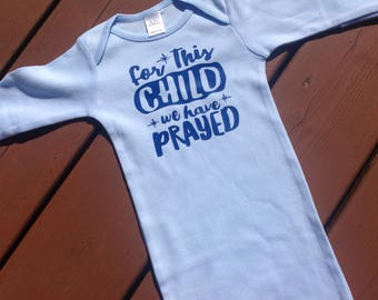 For This Child We Have Prayed - Boys Layette