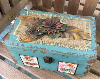 Intention Box, Antique Flower Findings, Gypsy Soul, Gypsy Box, Boho, Bohemian Decor, Mother's Day Gift