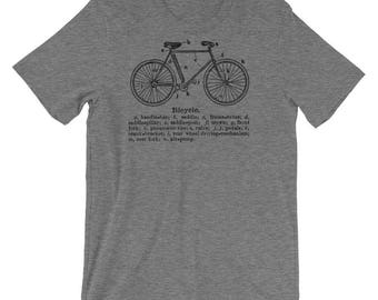 Fathers Day Gift- Gift for Him- Bicycle Tshirt- Bicycle Gift- for Cyclist- Bike Gift- Bike Tee- Bike T-shirt