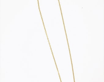 Thin Gold Heart Necklace