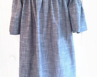 Bell Sleeve Linen Shift On/Off Shoulder Custom