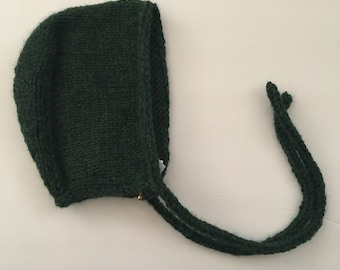 3-6 month Knitted Baby Bonnet