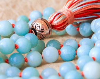 Mala 108, Buddhist Prayer Bead, Yoga Mala, Healing Mala For Optimal Health & Balance