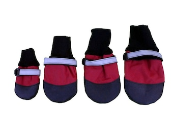 HDP Extreme Water-Repellent Big Dog Boots Red Set of 4