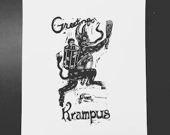 Greetings from Krampus print
